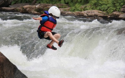 Chatooga River Section III Boy Jumping - Wildwater
